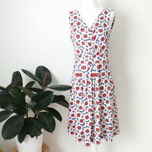 Lands' End Sunflower Floral Wrap Mini Sun Dress M